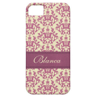 Botanic damask pink plum lemon iphone5 name case