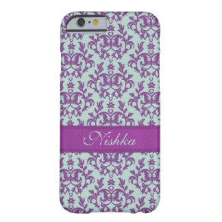Botanic damask purple emerald iphone barely there iPhone 6 case