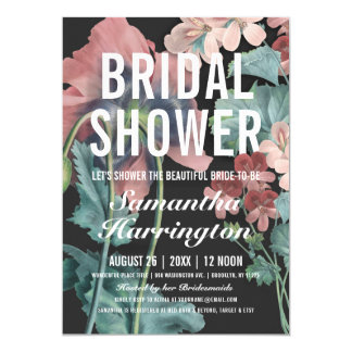 Botanic Embrace Bridal Shower Invitations