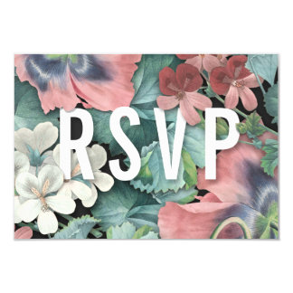 Botanic Embrace Wedding RSVP Cards