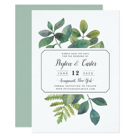 Botanica Save the Date Card