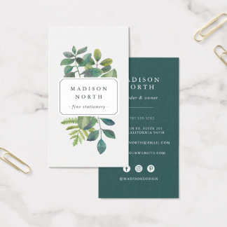 Botanica | Vertical Social Media Business Card