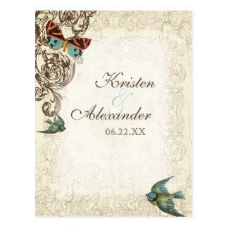 Botanica Wedding Ensemble - Cream Tan Postcard