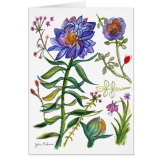Botanical 55 Blue Flower card
