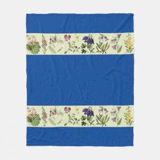 Botanical Alpine Flowers Floral Fleece Blanket
