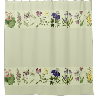 Botanical Alpine Flowers Floral Shower Curtain