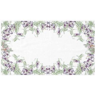 Botanical Alpine Sweet Pea Flowers Tablecloth