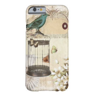 botanical art birdcage modern vintage french bird barely there iPhone 6 case