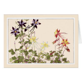 Botanical Art Card-Graceful Columbine Card