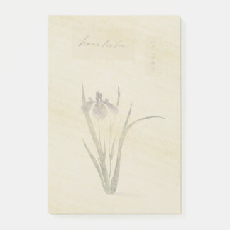 Botanical Asian Iris Flower Post It Notes