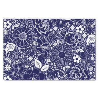 Botanical Beauties-Drk.Blue-TISSUE WRAP PAPER