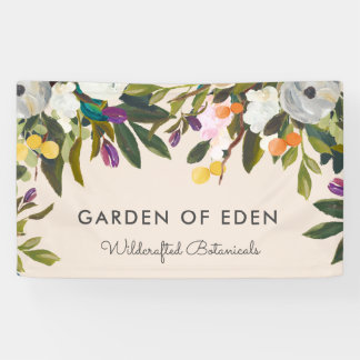 Botanical Bliss Floral Banner