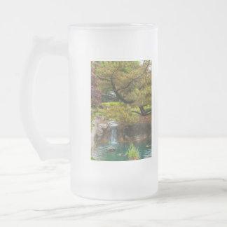 Botanical Bliss Frosted Glass Beer Mug