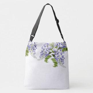 Botanical Blue Wisteria Flowers Floral Bag