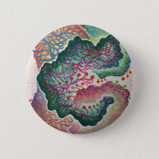 Botanical Breath Watercolor 2 Inch Round Button