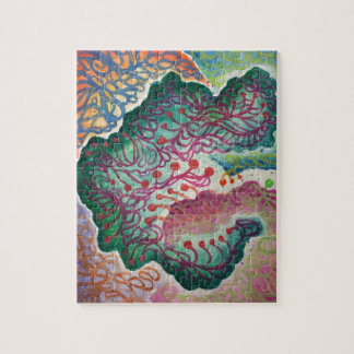 Botanical Breath Watercolor Jigsaw Puzzle