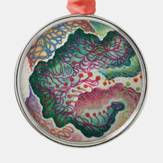 Botanical Breath Watercolor Metal Ornament