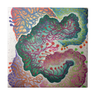 Botanical Breath Watercolor Tile