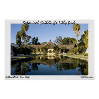 Botanical Building's Lilly Pond Poster