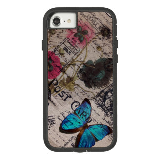 botanical butterfly burlap french country scripts Case-Mate tough extreme iPhone 8/7 case