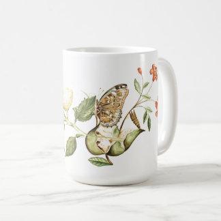 Botanical Butterfly Fruit Flower Blossoms Mug