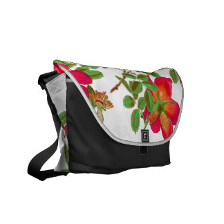 Botanical Cabbage Rose Flower Floral Messenger Bag