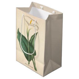 Botanical Calla Lily Flower Floral Medium Gift Bag