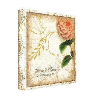 Botanical Camellia Customized Wedding Personalized Canvas Print