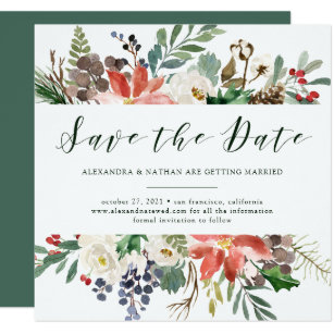 Christmas Wedding Invitations Announcements Zazzle CA - Christmas save the date template