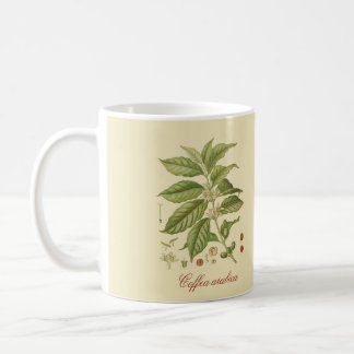Botanical Coffea arabica 11 oz Mug w/ witty quote