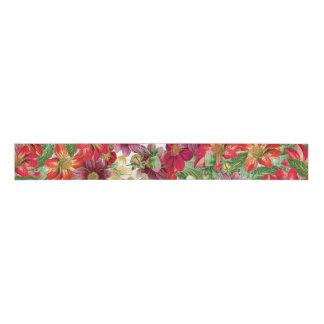 Botanical Dahlia Flowers Floral Ribbon Grosgrain Ribbon