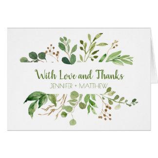 Botanical Dream Rustic Greenery Thank You Cards
