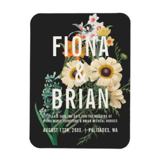 Botanical Dream Wedding Save the Date Magnets