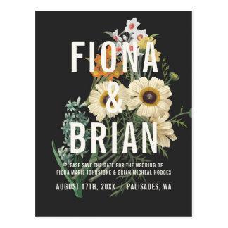 Botanical Dream Wedding Save the Date Postcards