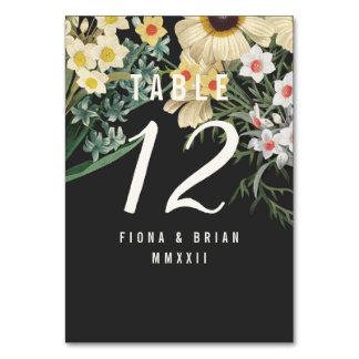 Botanical Dream Wedding Table Numbers