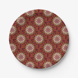 Botanical Dreams Mandala Paper Plate
