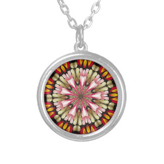 Botanical Dreams Mandala Silver Plated Necklace