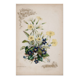 Botanical Engravings, March Poster