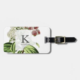 Botanical Family Monogram Floral Greenery Luggage Tag