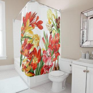 Botanical Flower Garden Floral Shower Curtain