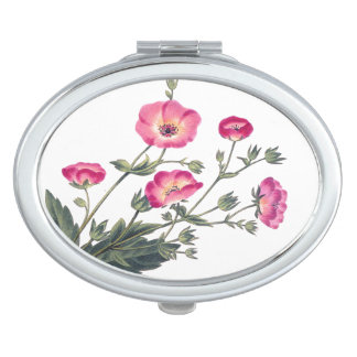 Botanical Flowers Floral Compact Mirror