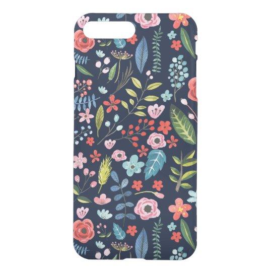 Botanical Flowers & Leafs Pattern iPhone 7 Plus Case