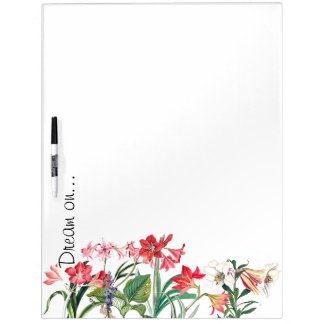 Botanical Flowers Lily Amarylis Floral Garden Dry Erase Board