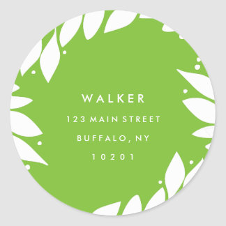 Botanical Frame Holiday Return Address Stickers