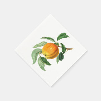 Botanical Fruit Peach Disposable Napkins