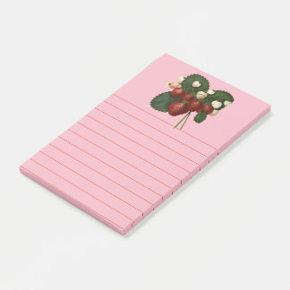 Botanical Fruit Strawberries Post-it Notes