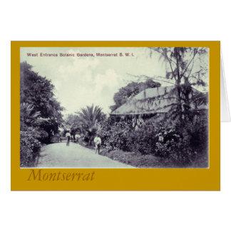 Botanical Garden, Montserrat Card