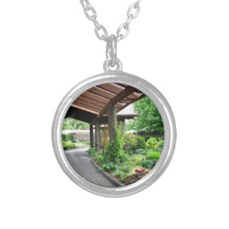 Botanical Garden Nature Lovers Paradise Silver Plated Necklace