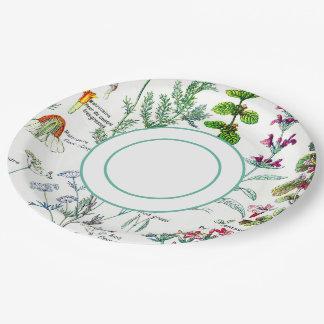 Botanical Garden Paper Plate