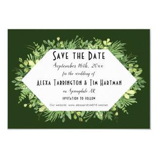 Botanical Garden Wedding Save the Date Request Card